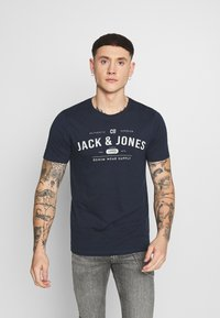 Jack & Jones - Print T-shirt - navy blazer - 0