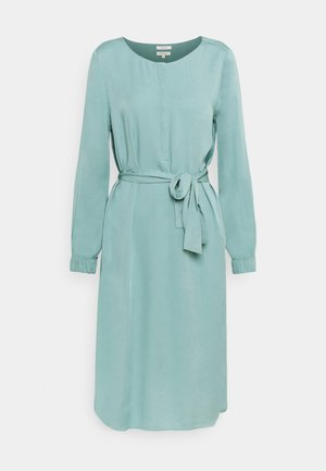 DRESS PRINTED MIDI - Shirt dress - mineral stone blue