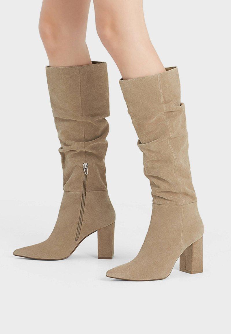 Bershka - IN KNITTEROPTIK  - Boots - beige