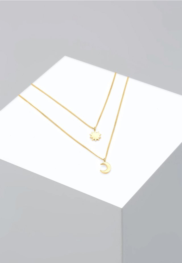 LAYER HALBMOND SONNE ASTRO  - Ketting - gold
