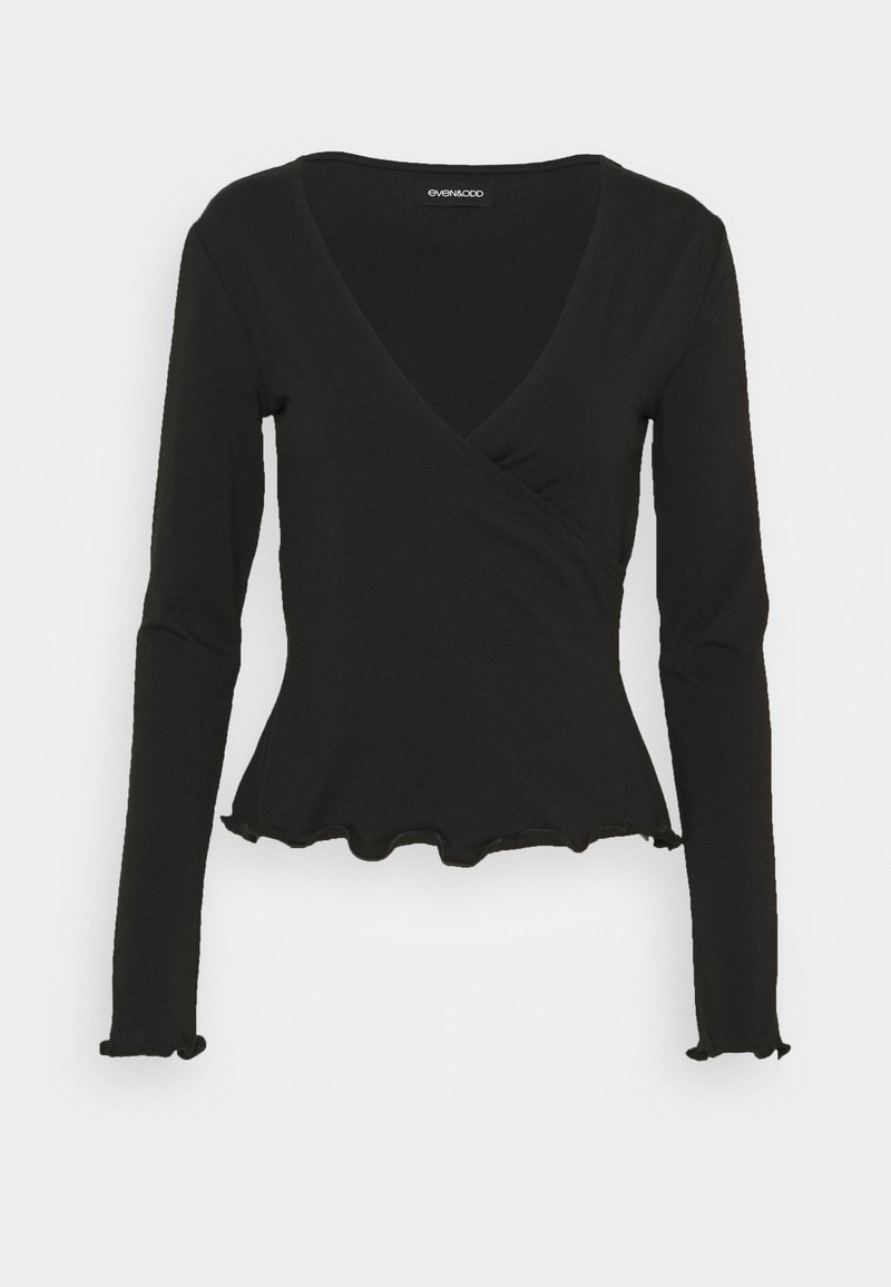 Even&Odd - Topper langermet - black