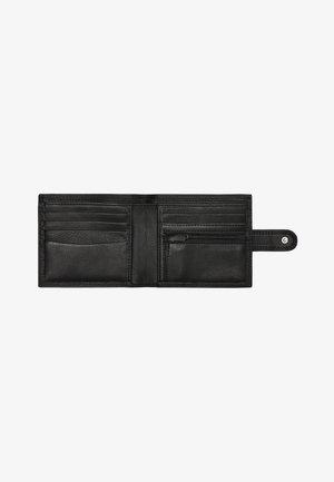 BLACK PU POPPER FRONT WALLET - Wallet - black