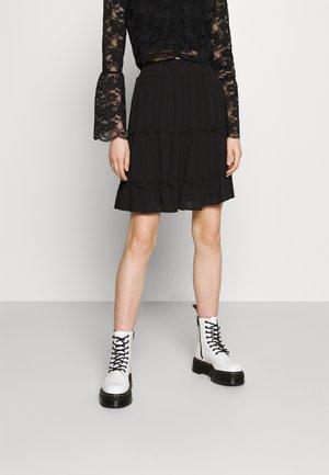 VISEL FESTIVAL RUFFLE SKIRT - A-line skirt - black
