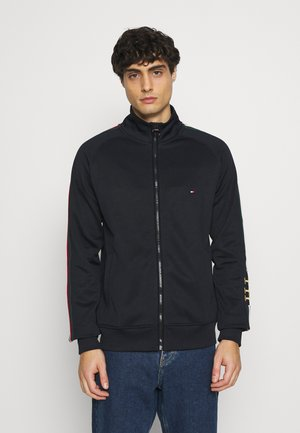 MONOGRAM ZIP THROUGH - Kofta - blue