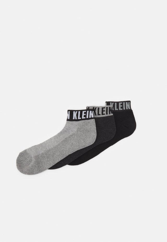 MEN QUARTER LOGO CUFF DRAKE 3 PACK - Socks - grey