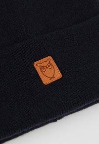 Knowledge Cotton Apparel - LEAF BEANIE UNISEX - Huer - dark blue - 5