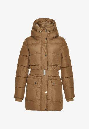 BELTED PADDED - Zimní kabát - brown