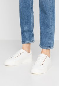 Topshop - CAMDEN LACE UP - Baskets basses - white - 0