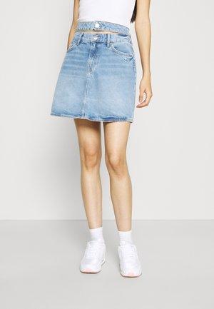 Mini skirt - auth denim