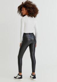PULL&BEAR - SKINNY-FIT - Legging - mottled black - 2