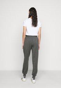 ONLY Tall - ONLPETRA PAPERBAG PANT - Kalhoty - dark grey melange - 2