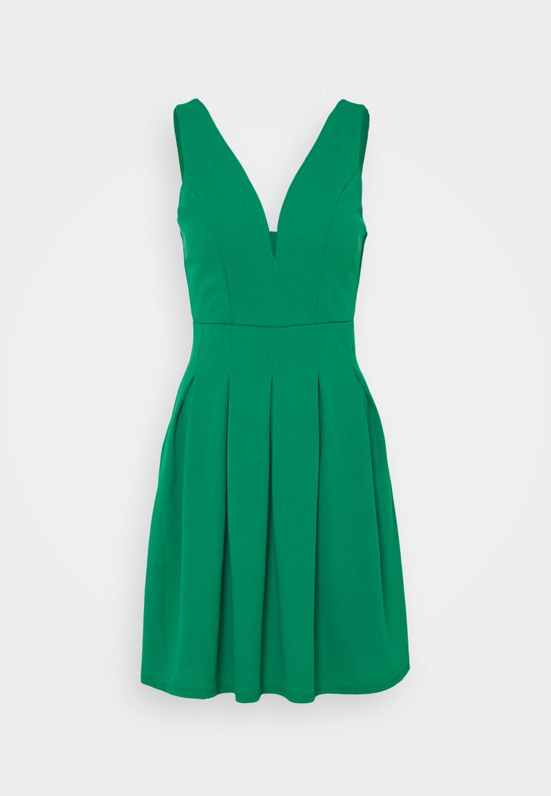 WAL G TALL - PLEATED SKATER DRESS - Cocktail dress / Party dress - leaf green