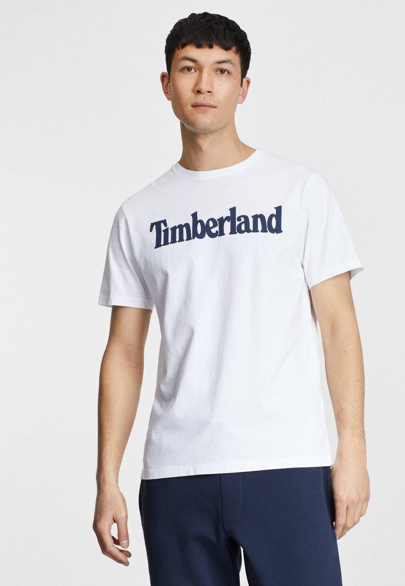 Timberland - KENNEBEC RIVER LINEAR TEE - Print T-shirt - white