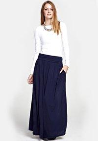 HotSquash - LUXURY - Maxi skirt - inky navy - 0