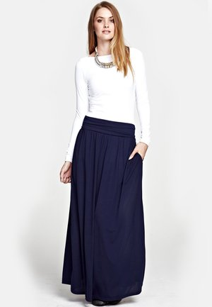 LUXURY - Maxi skirt - inky navy