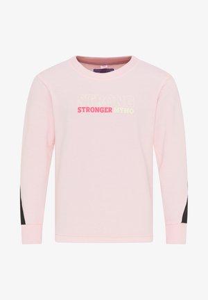 Sweatshirt - hellrosa schwarz