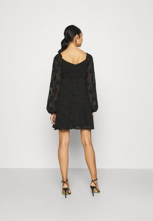 ELASTICATED NECK DRESS - Kjole - black