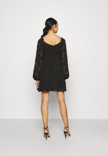 ELASTICATED NECK DRESS - Day dress - black
