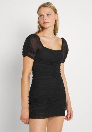 VIANEMONE GATHERING DRESS - Cocktail dress / Party dress - black