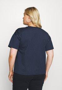 Lauren Ralph Lauren Woman - LAFREYA SHORT SLEEVE - T-shirt basic - french navy/pale cream - 2