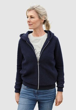 SWEATJACKE - Fleece jacket - marineblau