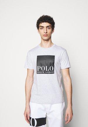 Print T-shirt - smoke heather