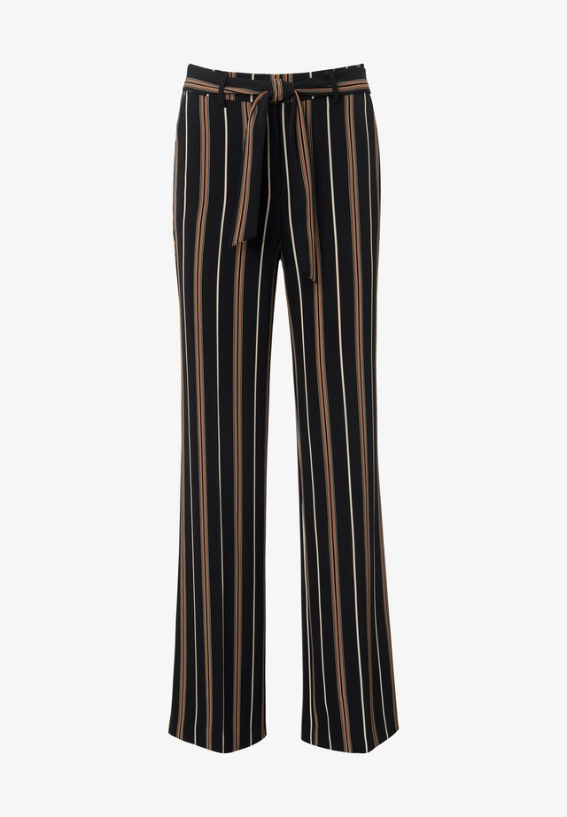 HOSE WIDE-LEG - Trousers - schwarz/multicolor