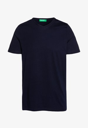 BASIC VNECK - Basic T-shirt - darkblue