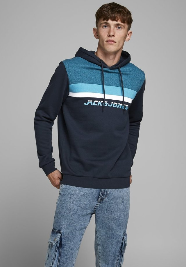 JCOPAN - Felpa con cappuccio - navy blazer