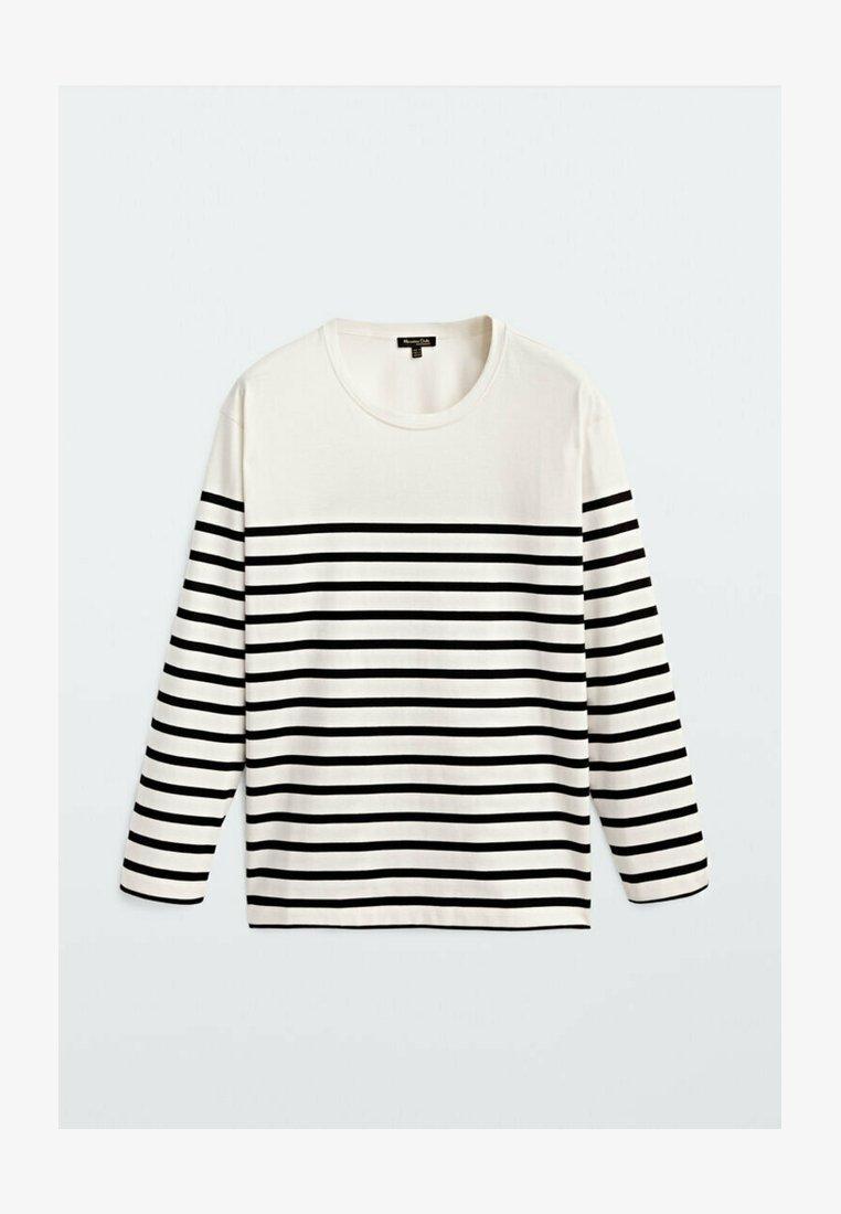 Massimo Dutti - T-shirt à manches longues - white