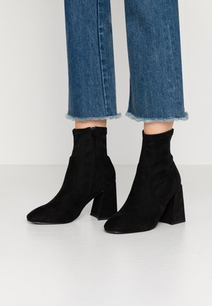 BROOKLYN - High heeled ankle boots - black