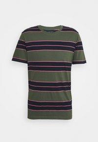 Club Monaco - NIRVANA STRIPED TEE - Print T-shirt - navy - 0