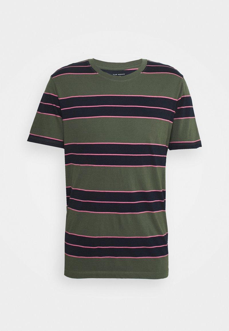 Club Monaco - NIRVANA STRIPED TEE - Print T-shirt - navy