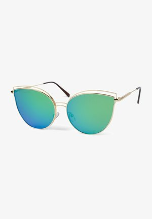 MIT DOPPELTEM RAHMEN  - Sunglasses - gestell gold / glas grün