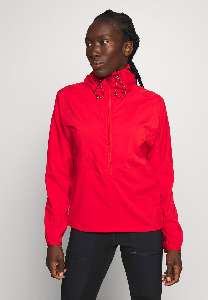 Peak Performance - HIT HALF ZIP - Windbreaker - vibrant red