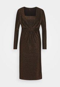 YAS - YASYEN V NECK MIDI DRESS - Cocktail dress / Party dress - black - 0