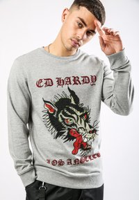 Ed Hardy - BIG-BAD CREW NECK SWEATSHIRT - Sweatshirt - grey marl - 0