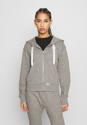 BIKER HOODED - Zip-up hoodie - avalanche heather