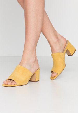 ADOMA - Heeled mules - yellow