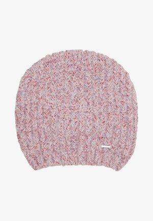 MUTS - Beanie - red melange knit