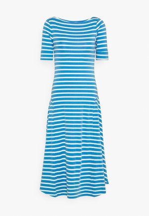 Jersey dress - captain blue/white
