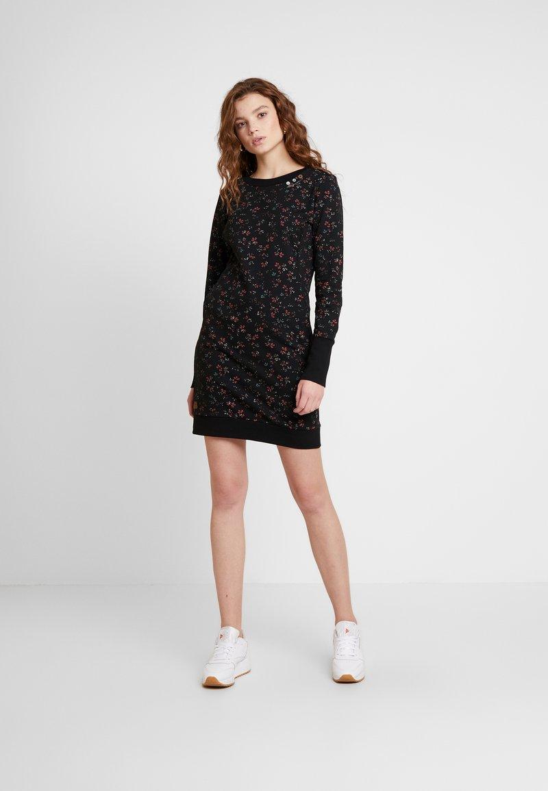 Ragwear - MENITA FLOWERS - Korte jurk - black