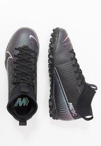 Nike Performance - JR MERCURIAL 7 ACADEMY TF UNISEX - Astro turf trainers - black - 0