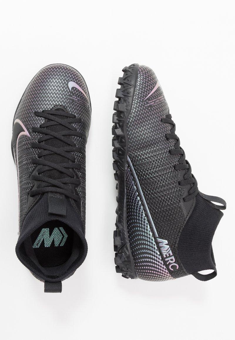 Nike Performance - JR MERCURIAL 7 ACADEMY TF UNISEX - Astro turf trainers - black