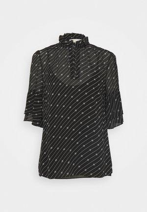 LOGO BELL - Blouse - black/ white