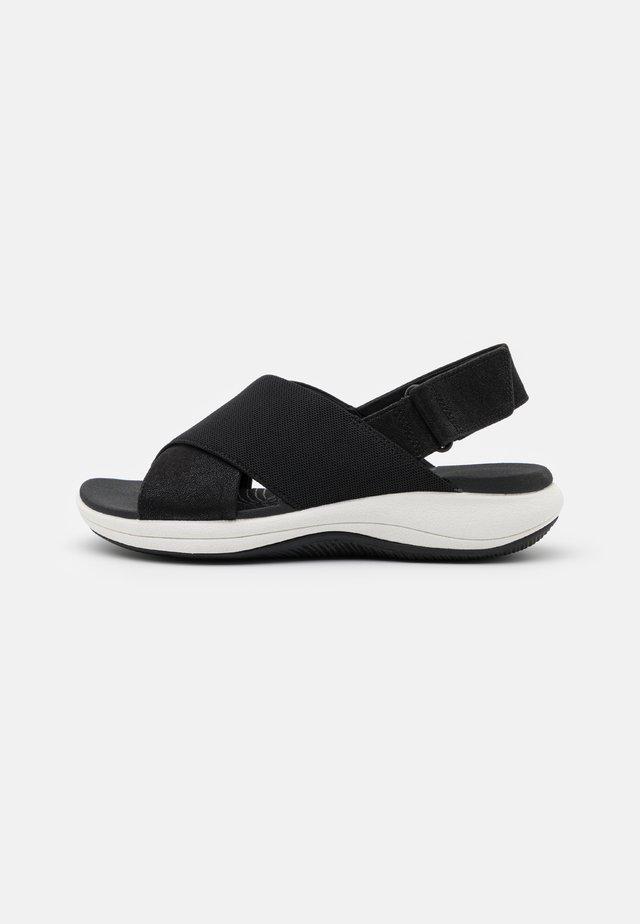 MIRA SAND - Korkeakorkoiset sandaalit - black