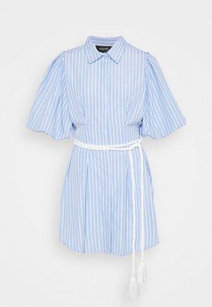 THE CRYSTAL SEA DRESS - Shirt dress - blue/white