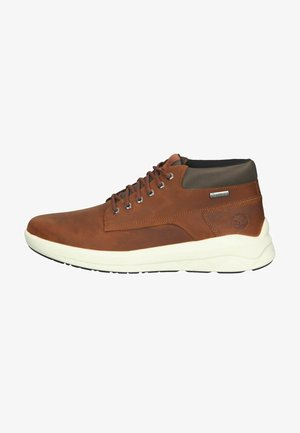 Lace-up ankle boots - md brown full grain
