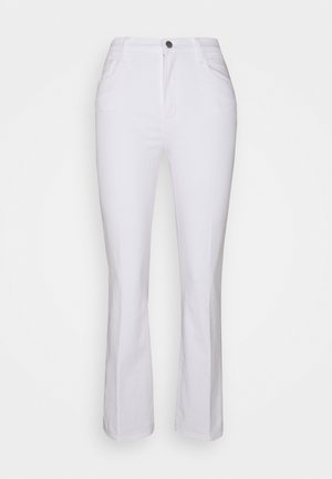 FRANKY HIGH RISE CROP BOOT - Bootcut jeans - blanc