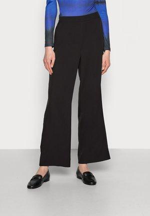 ESTER WIDE PANTS - Trousers - black deep
